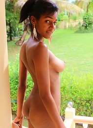 Black Dominican barbie doll with great tits gets fucked